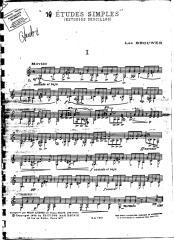 partituras guitarra - brouwer, leo - 10 estudios simples.pdf