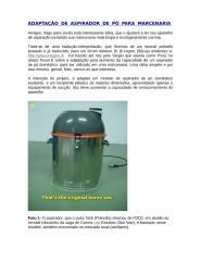 MARCENARIA - Adaptação De Aspirador De Pó Para Marcenaria.doc