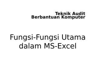 TABK-13 - Fungsi-Funsi Pokok dalam MS-Excel.ppt