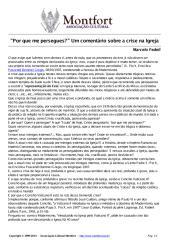 'Por que me persegues (pergunta)' Um comentário sobre a crise na Igreja.pdf