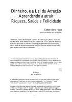Dinheiro, e a Lei da Atração - Aprendendo a atrair Riqueza, Saúde e Felicidade - Esther e Jerry Hicks.pdf