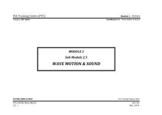PIA B2_Module 2 (PHYSICS) SubModule 2.5 (Wave Motion and Sound) Final.pdf