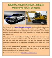 Effective House Window Tinting in Melbourne for All Seasons.pdf