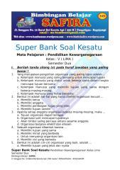 6. SUPER BANK SOAL PKN  KESATU  KELAS LIMA  SEMESTER DUA.docx