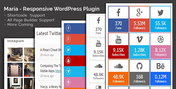 Maria - All in One Social Share WordPress Plugin