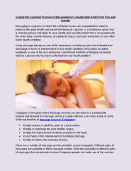 Spread the Essential Practice of Massaging for Considerable Relief from Pain and Anxiety.pdf